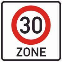 Verkehrsschild Zone 30